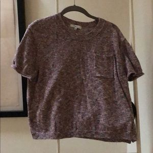 Madewell size L short sleeve sweater